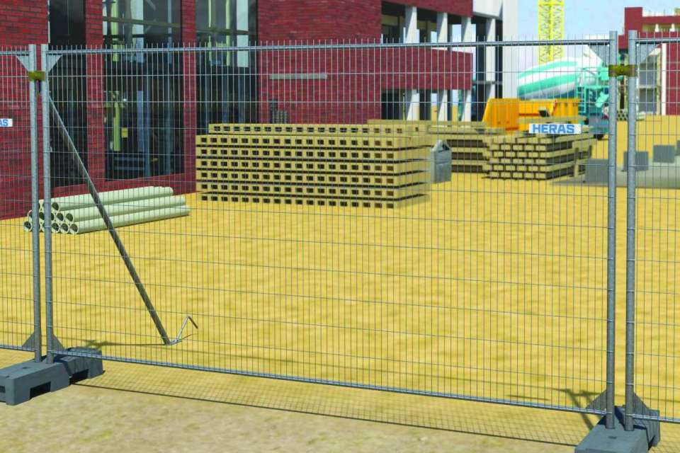 3D M400 Mobile fence 3xH + H&E - spikes
