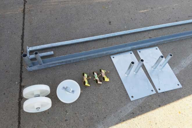 M400 Mobile Fence hook & eye no spikes